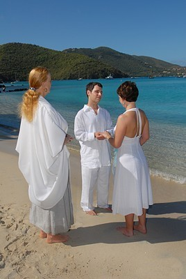 Cinnamon Bay Beach wedding