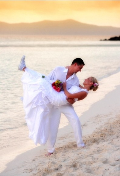 St John beach wedding by Anne Marie Porter