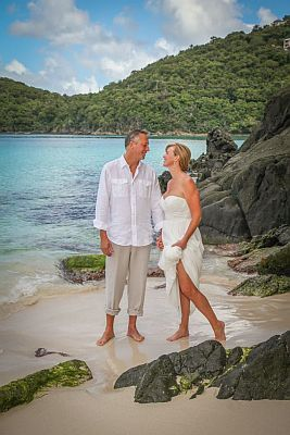 St John US Virgin Island  Beach Wedding