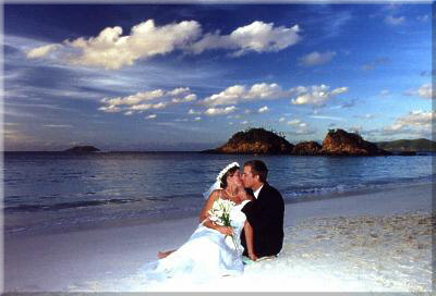 St John beach weddings on Hawksnest beach