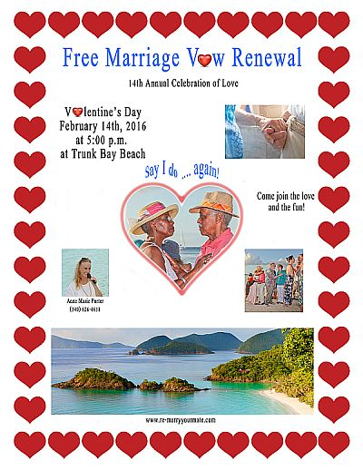 Re-marry your mate invitation for free Marriage Vow Renewal