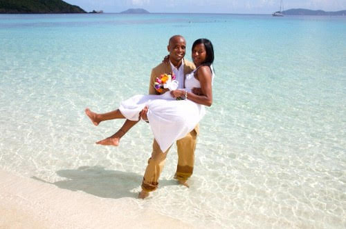 A St John Beach Wedding