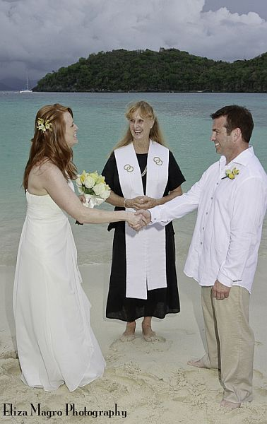 St John Beach Wedding Thank you