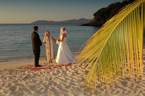 Beach Wedding on St Joh