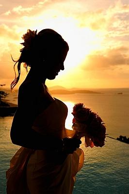 Sunset St John Beach Wedding