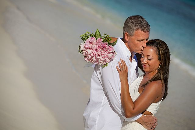 Romance at a Beach Wedding on St. John