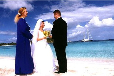 Beach Wedding on St John VI