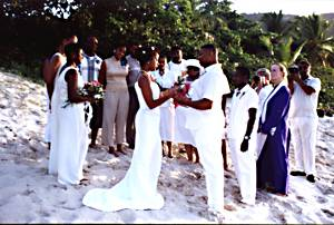 Beach Wedding on St Johns