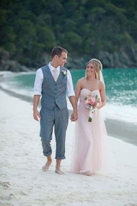 Barefoot Wedding on St John