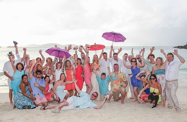 Fun St John Beach Wedding