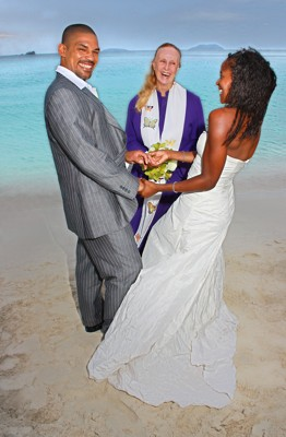 Joyful St John Beach Wedding