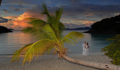 Sunset Wedding on St. John