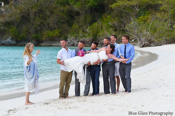 A Stress-free fun St. John wedding