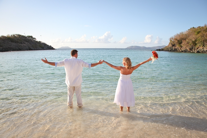 St John VI beach wedding